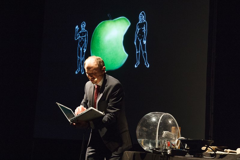 "Fra Amund Sjølies performance ""Economic Theory for Dummies"""