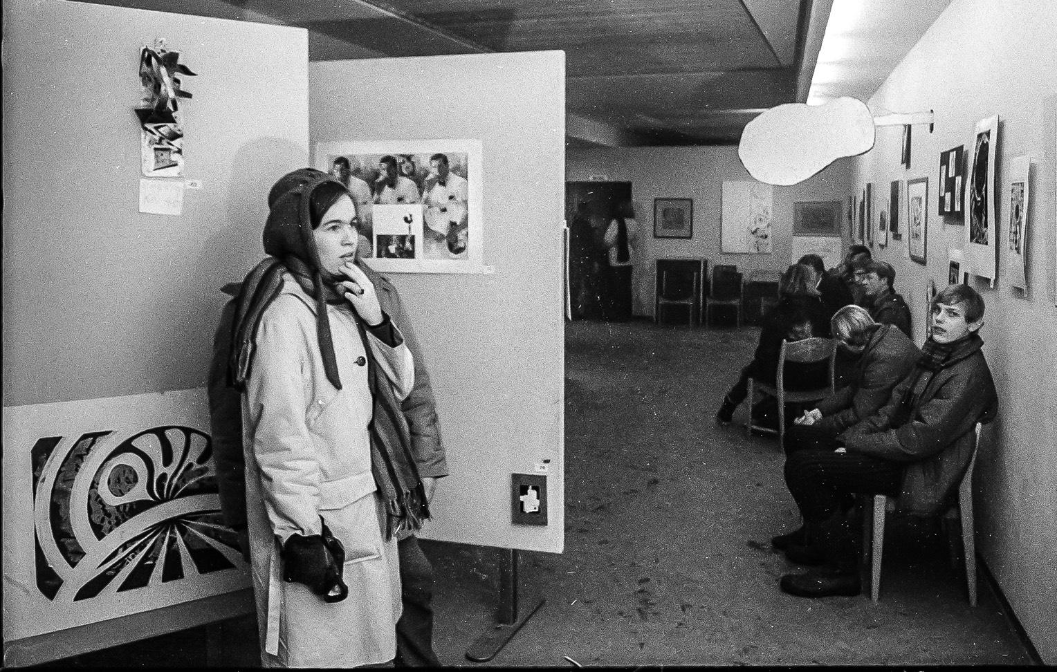 Fra OHMs utstilling i Skiens kunstforening vinteren 1969 (foto: Per Helge Berrefjord)